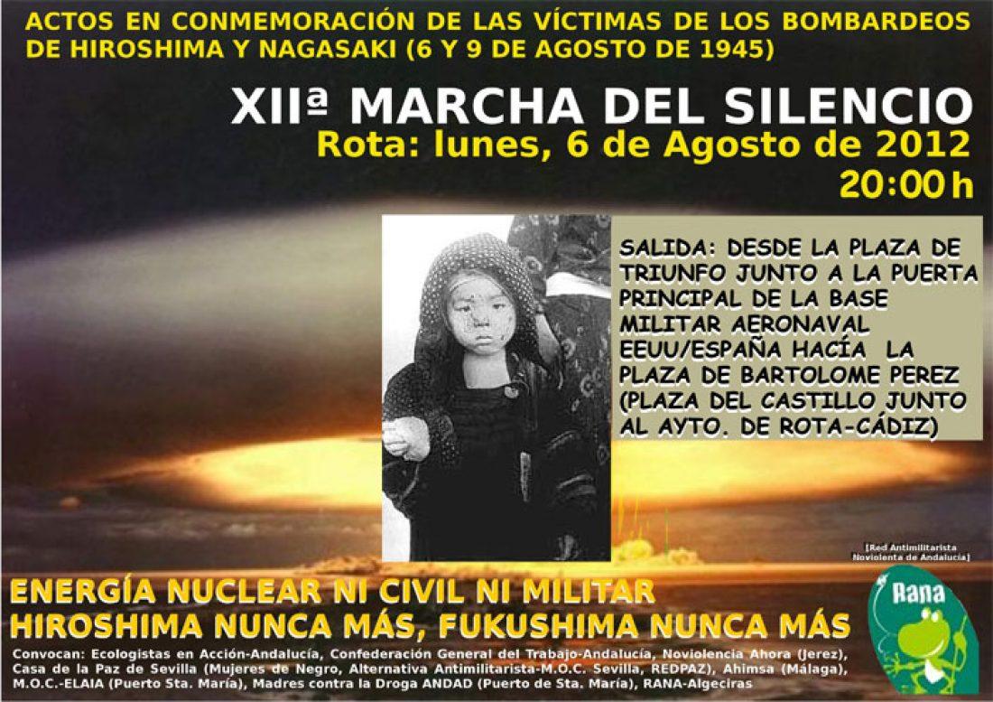 Marcha del Silencio.Actos en conmemoración de las víctimas de los bombadeos de Hiroshima y Nagasaki (6 y 9 de agosto de 1945)