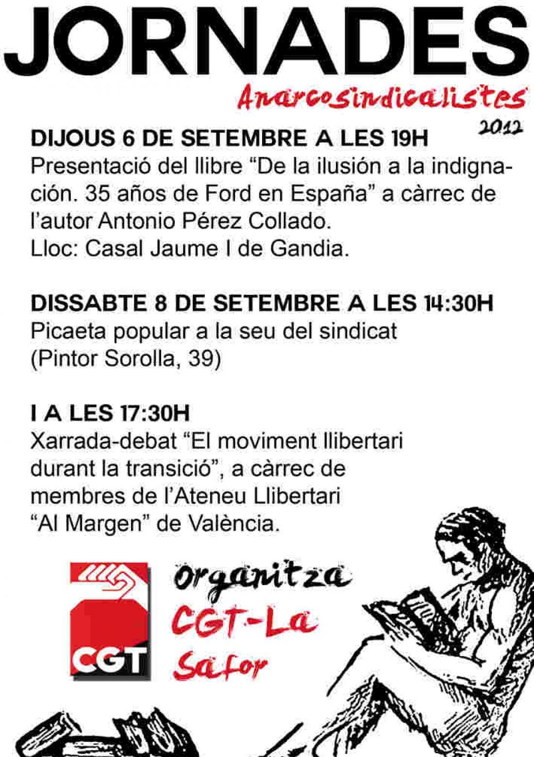 Jornadas anarcosindicalistas de CGT La Safor 6 y 8 de septiembre
