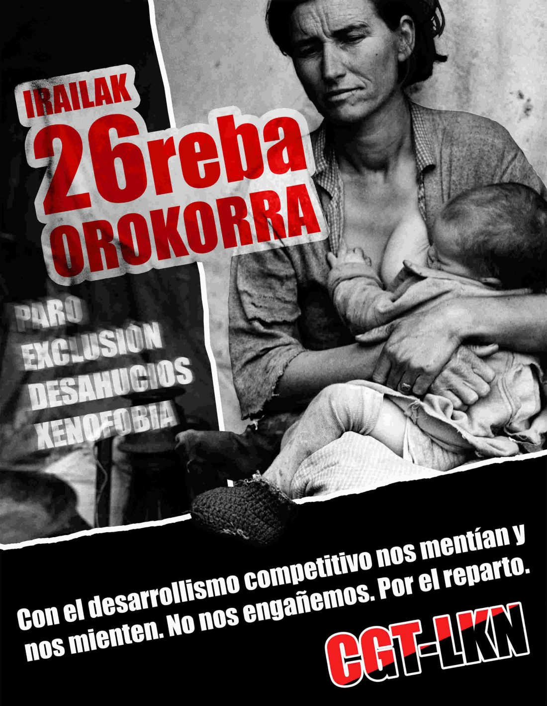 Euskadi. Huelga General 26 septiembre – Iraliak 26 Greba Orokorra