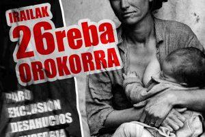 Por la defensa de los derechos sociales y laborales: 26 de septiembre Huelga General