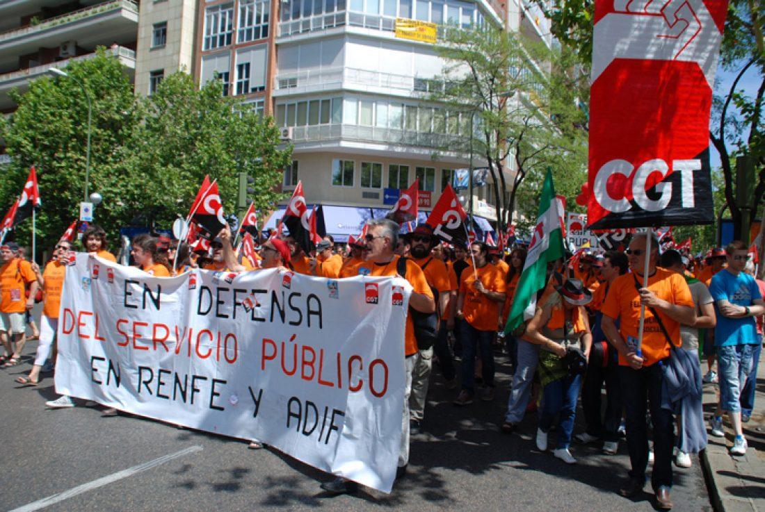 El sector ferroviario en huelga el día 17 de septiembre