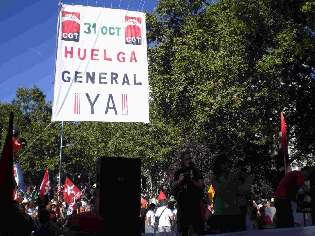 Convocatoria de asamblea de delegados y afiliados en Barcelona para organizar la HG 31-O