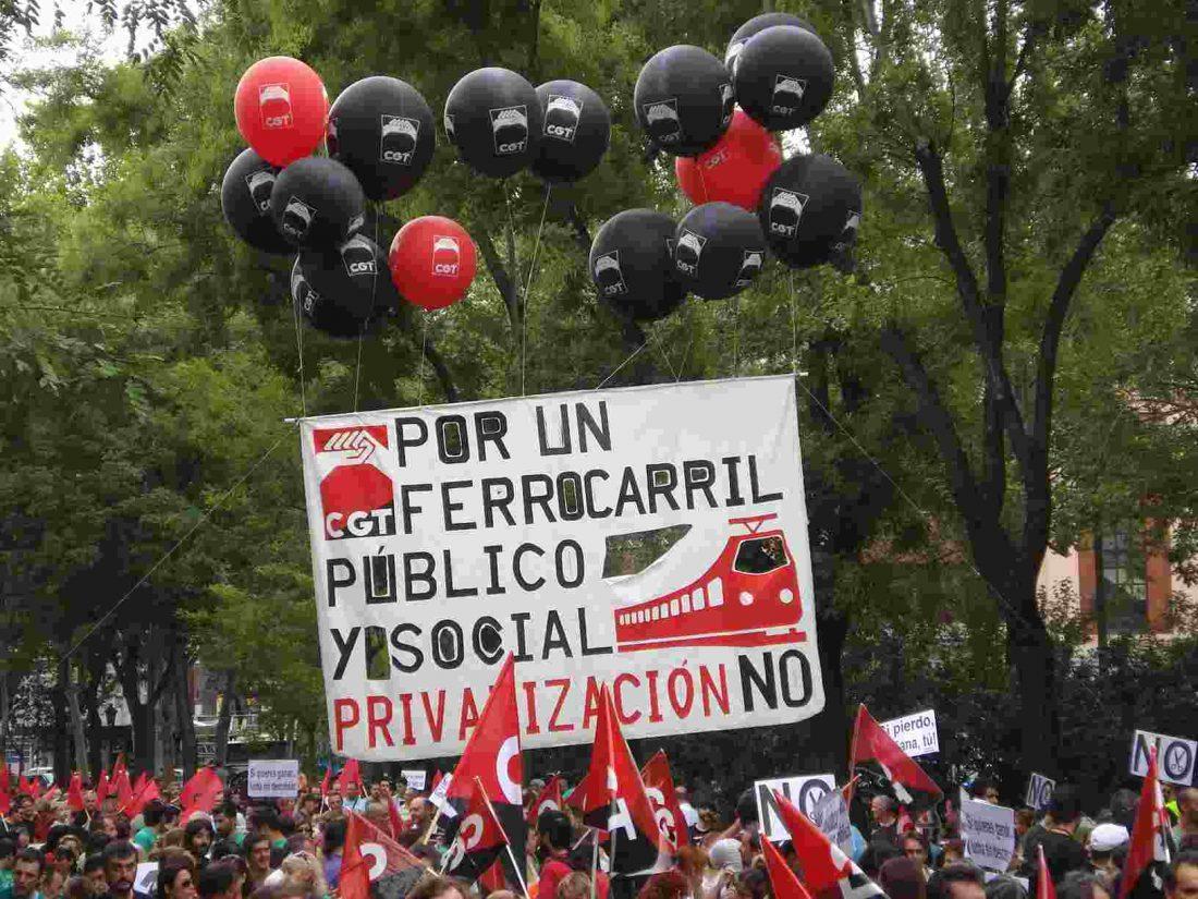 Crónica y fotos de la manifestación de Enseñanza y Transportes en Madrid