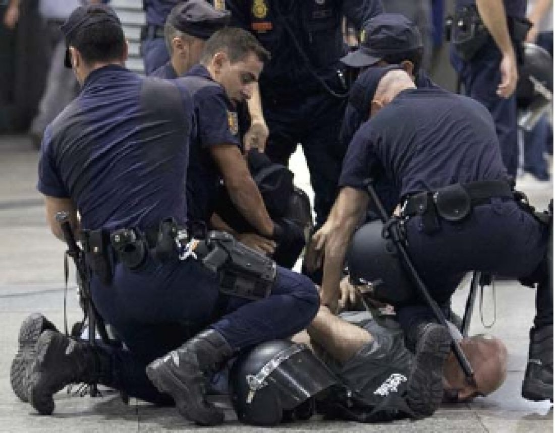 Grave represión durante la jornada de huelga del 17S