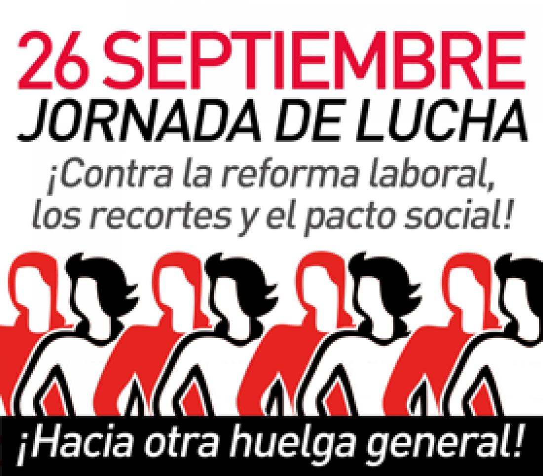 Manifiesto sindicalismo alternativo. Jornada Lucha 26S