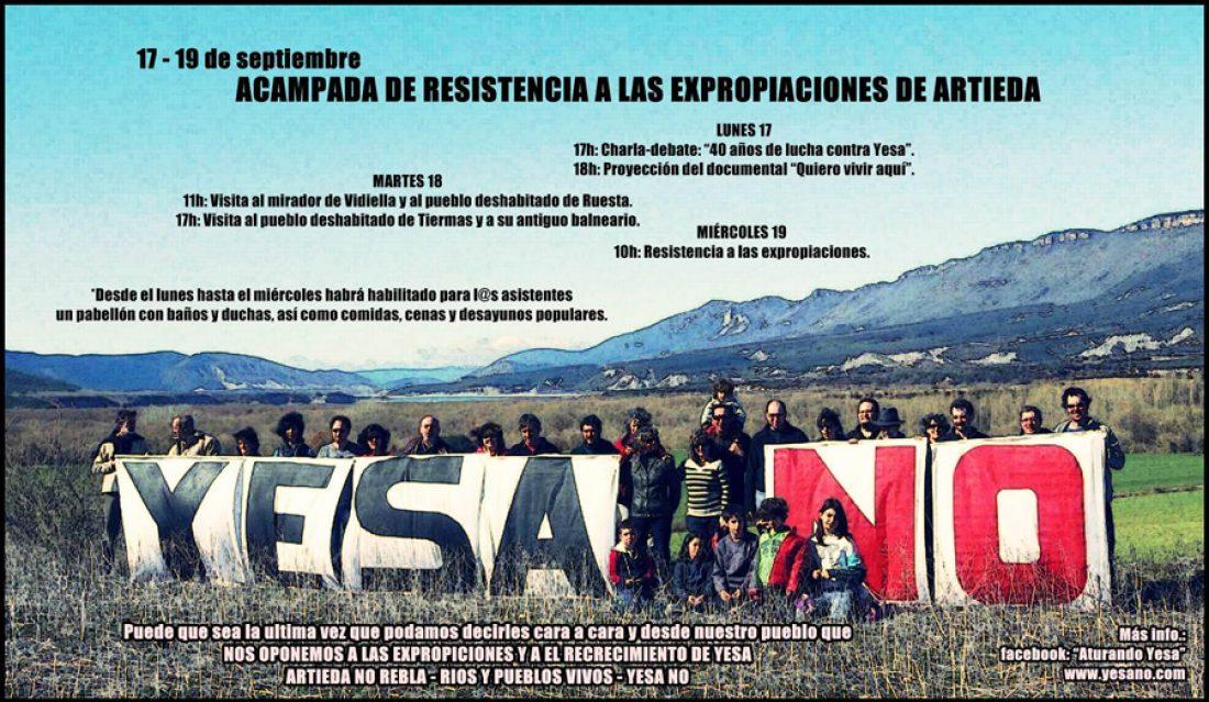 17-19 de septiembre: Acampada de resistencia a las expropiaciones en el pantano de Yesa