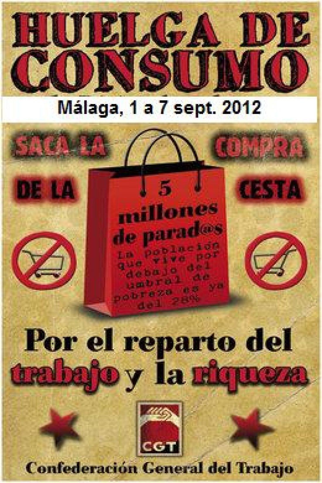 CGT Málaga, montó piquetes informativos sobre la huelga de consumo y participó en la marcha obrera