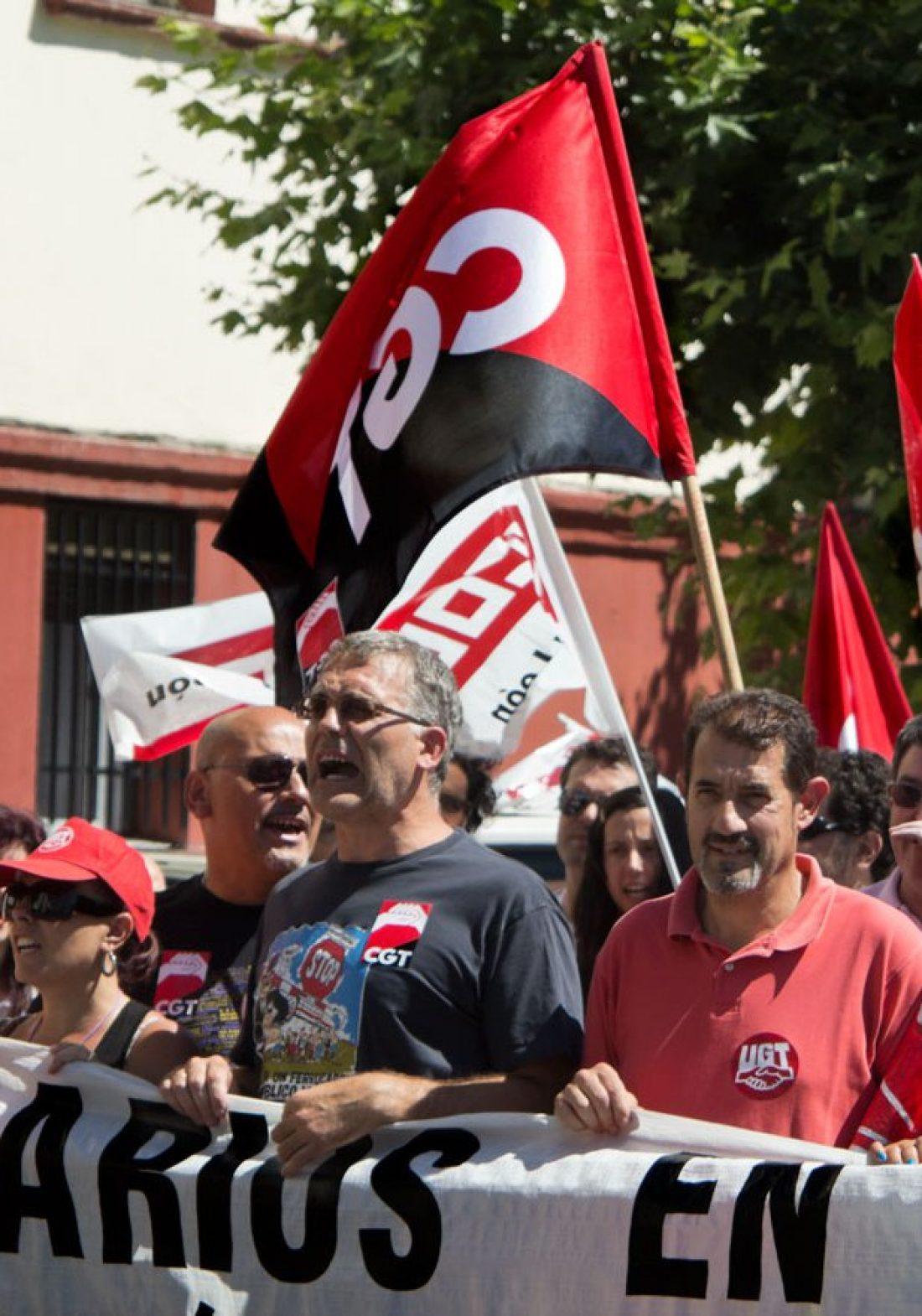 Marcha en Málaga contra el desmantelamiento de Renfe-Adif y en defensa del empleo en el sector ferroviario