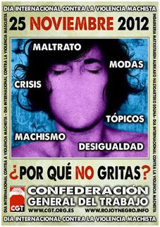 CGT contra la violencia machista