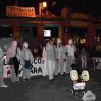 Segovia. Concentración teatralizada de CGT por la Huelga General 31-O