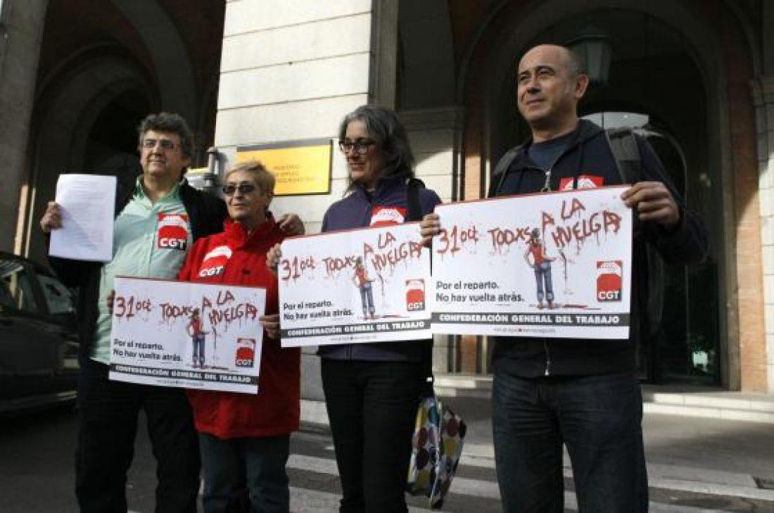 CGT registra la convocatoria de Huelga General para el 31 de octubre