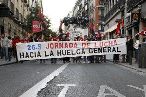 Movilizacion de la CGT Málaga durante todo el mes como preparación de la Huelga General del 31-O