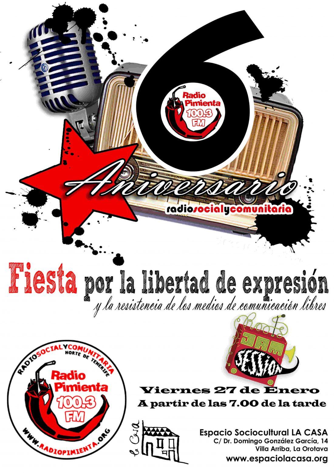 Tenerife. Represion contra Radio Pimienta