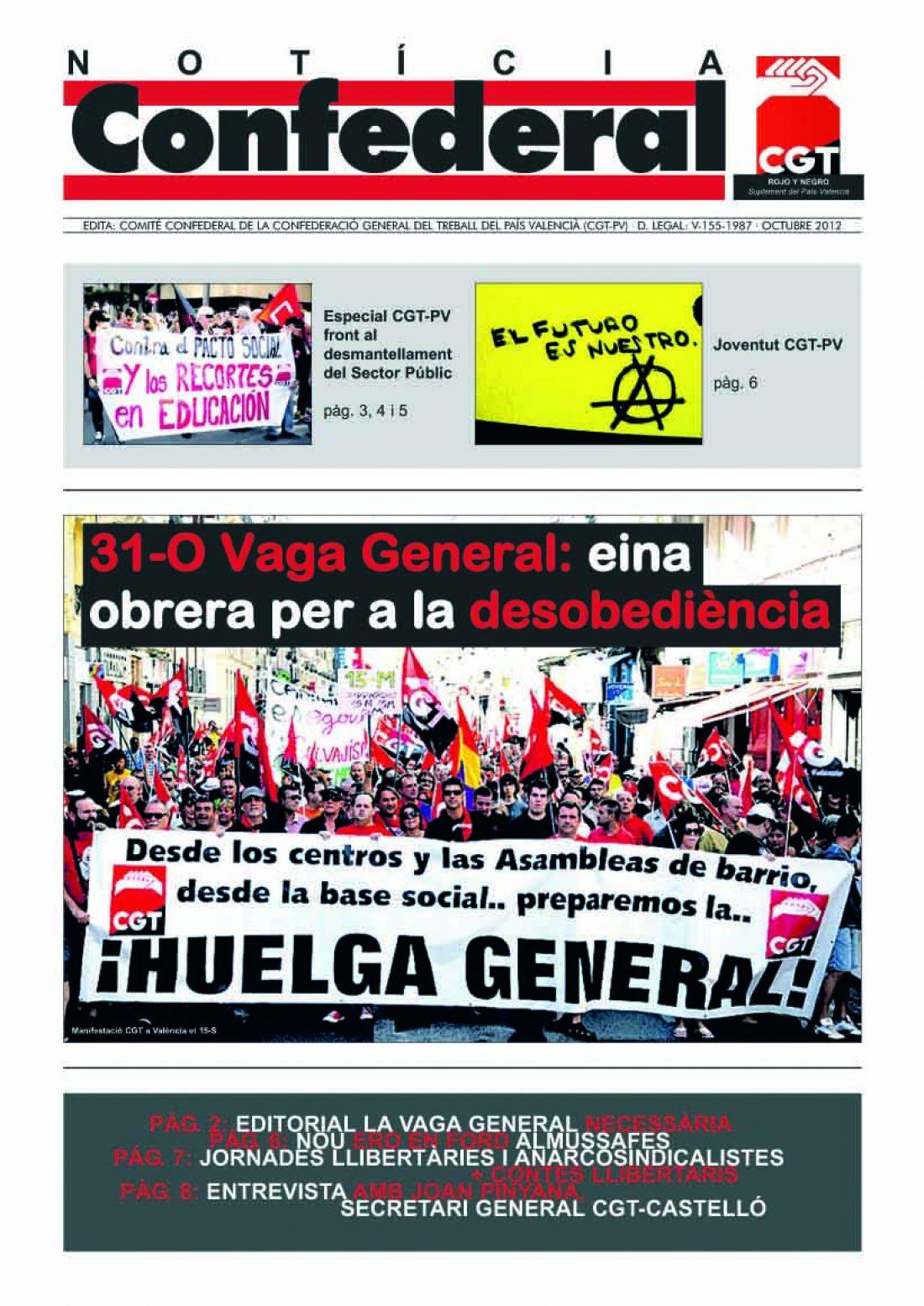 Noticia Confederal – Octubre 2012