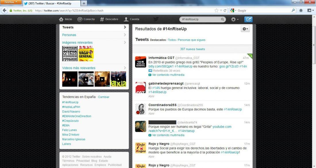 La iniciativa de CGT #14NRiseUp se convierte en número uno trending topic mundial