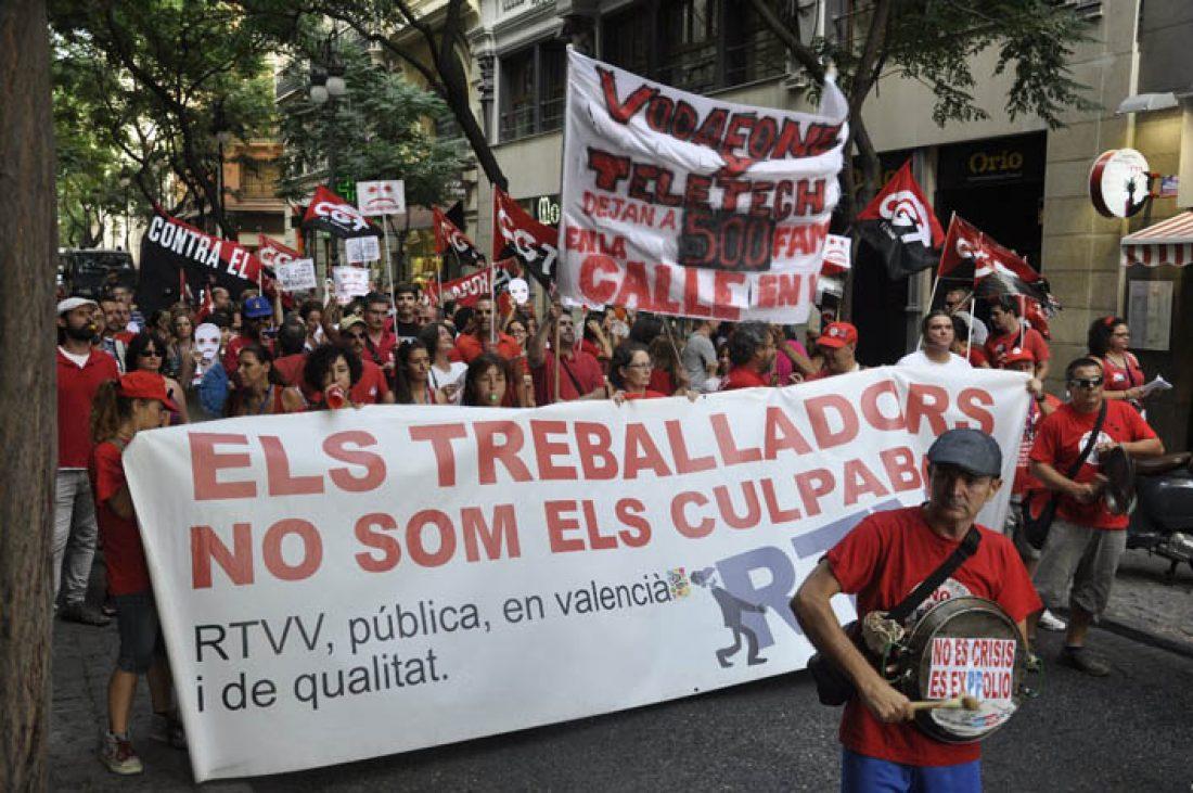 Comunicado del Comité de empresa de RTVV ante las sanciones a 48 trabajadores