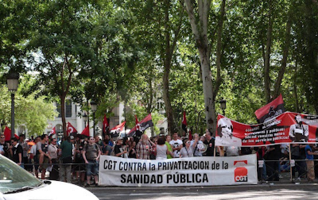 El Sindicato de Sanidad de Madrid de CGT apoya la Huelga en Sanidad