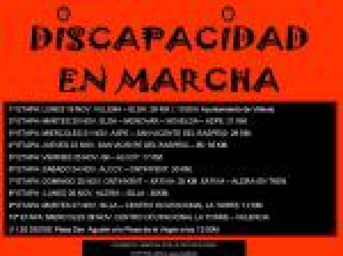 Trabajadores y usuarios de Asprodis marcharán a pie desde Villena hasta Valencia