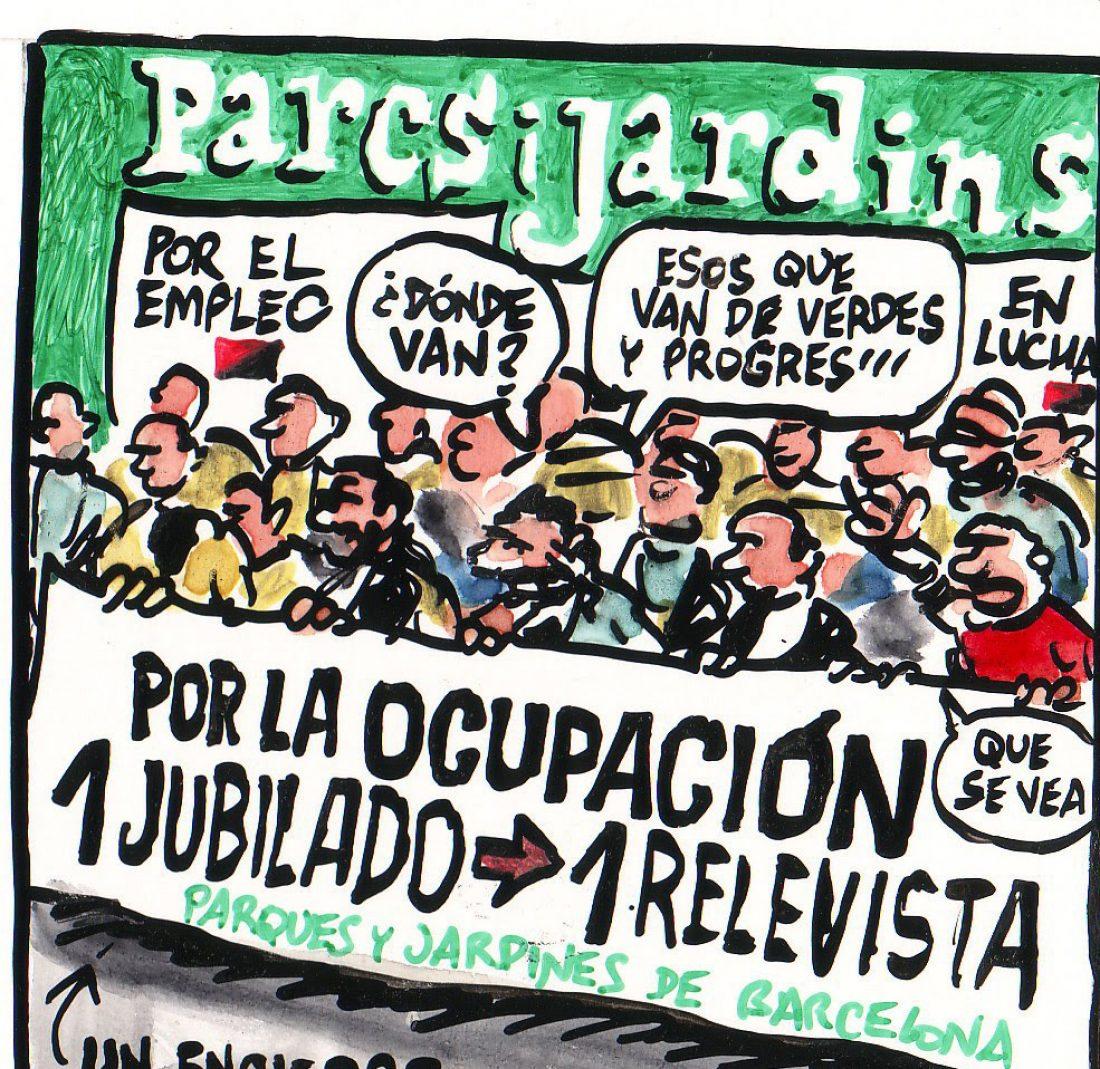 Paros en Parcs i Jardins de Barcelona los días 21, 22 y 23 de noviembre