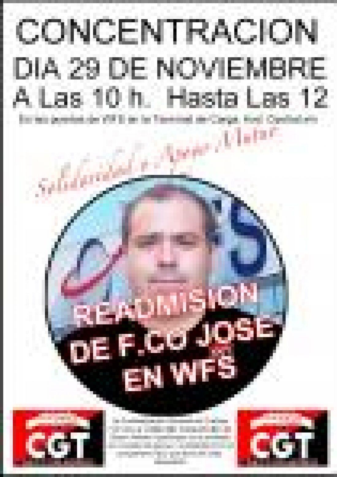 Concentraciones por la readmisión de los despedidos WFS-Madrid y contra los recortes
