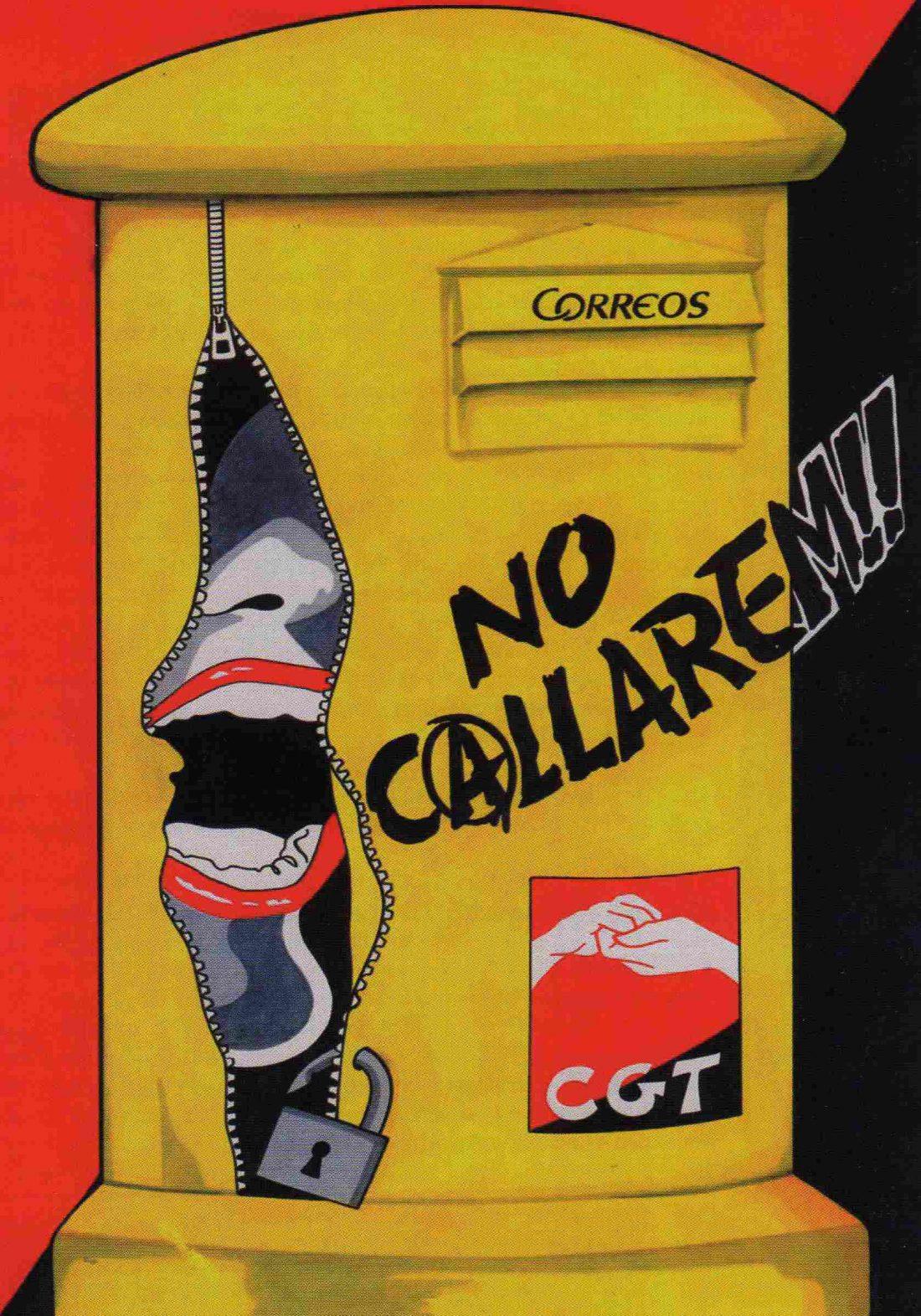 Represión contra CGT en Correos: hablemos claro, basta de tonterias