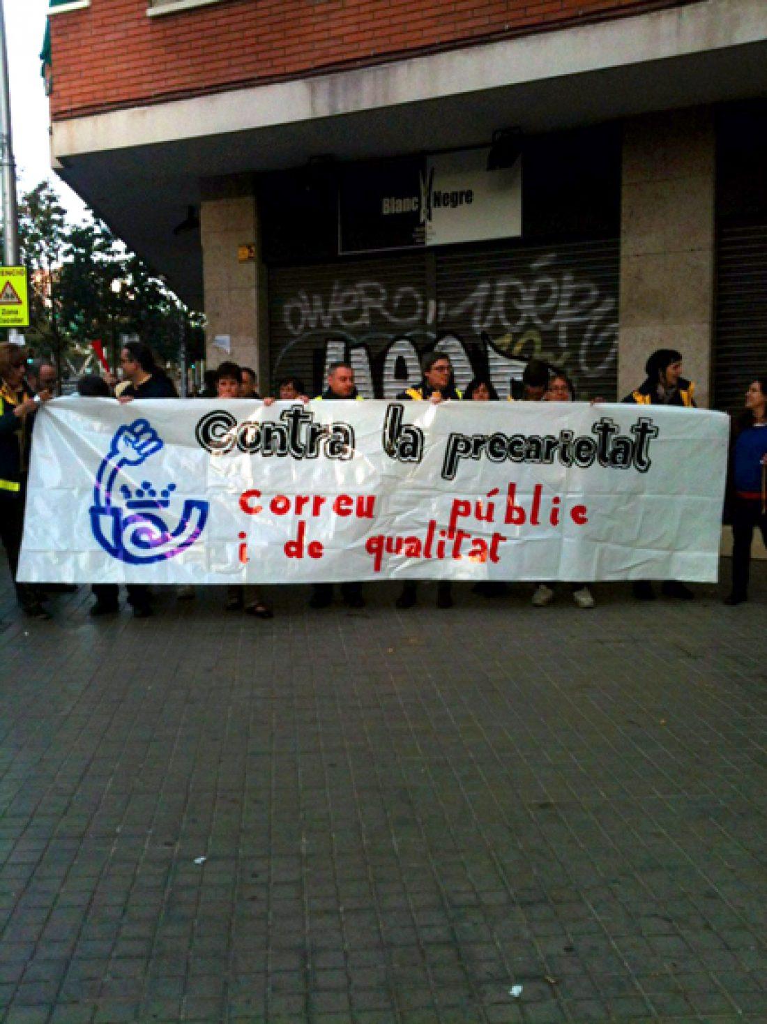 Mas del 80% de los carteros de la ciudad de Barcelona han participado en las movilizaciones convocadas por la CGT