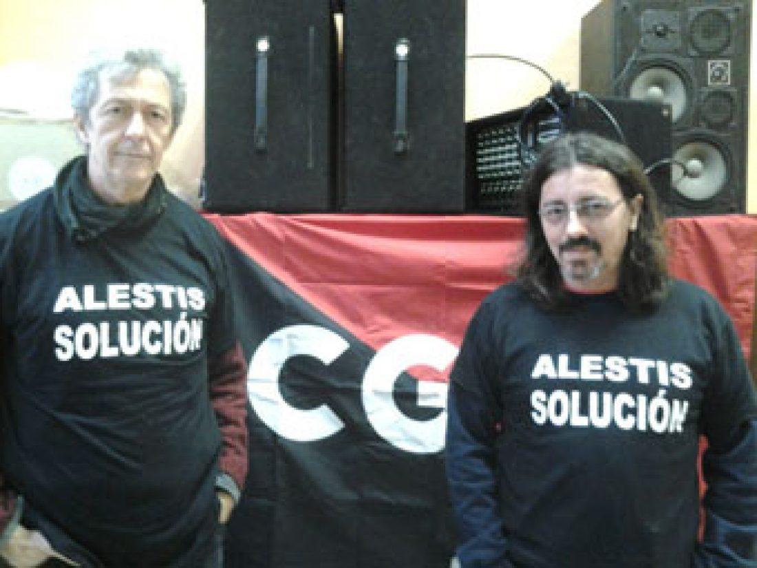 Concentración de los trabajadores de Alestis