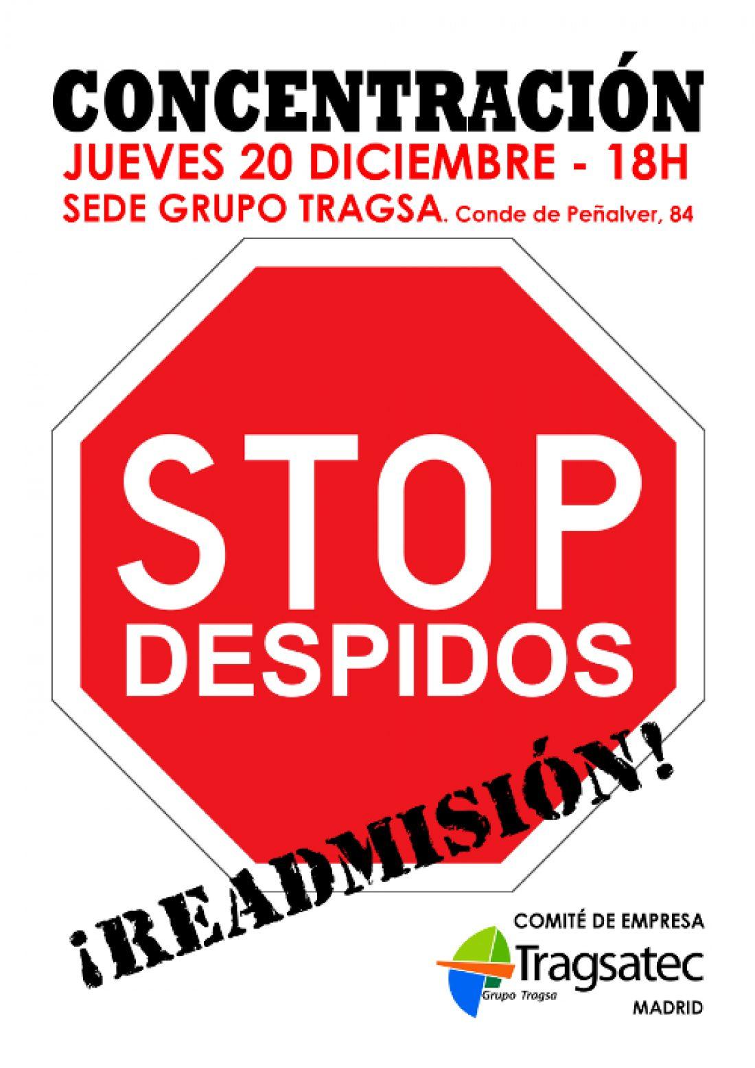 Concentración contra los despidos en Tragsatec