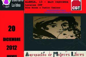 Presentación de la Antología de Mujeres Libres – Revista