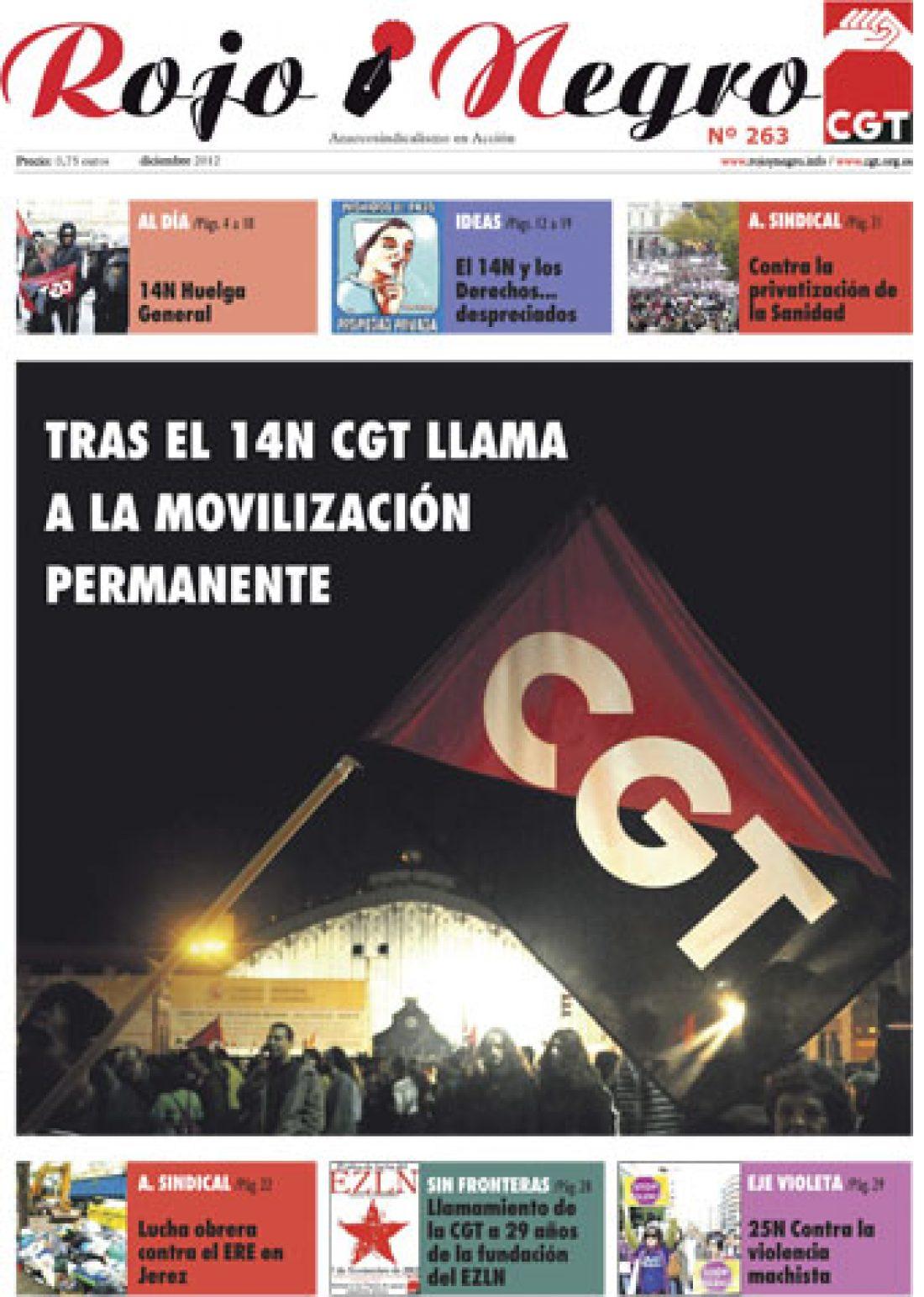 Rojo y Negro Nº 263 – diciembre 2012