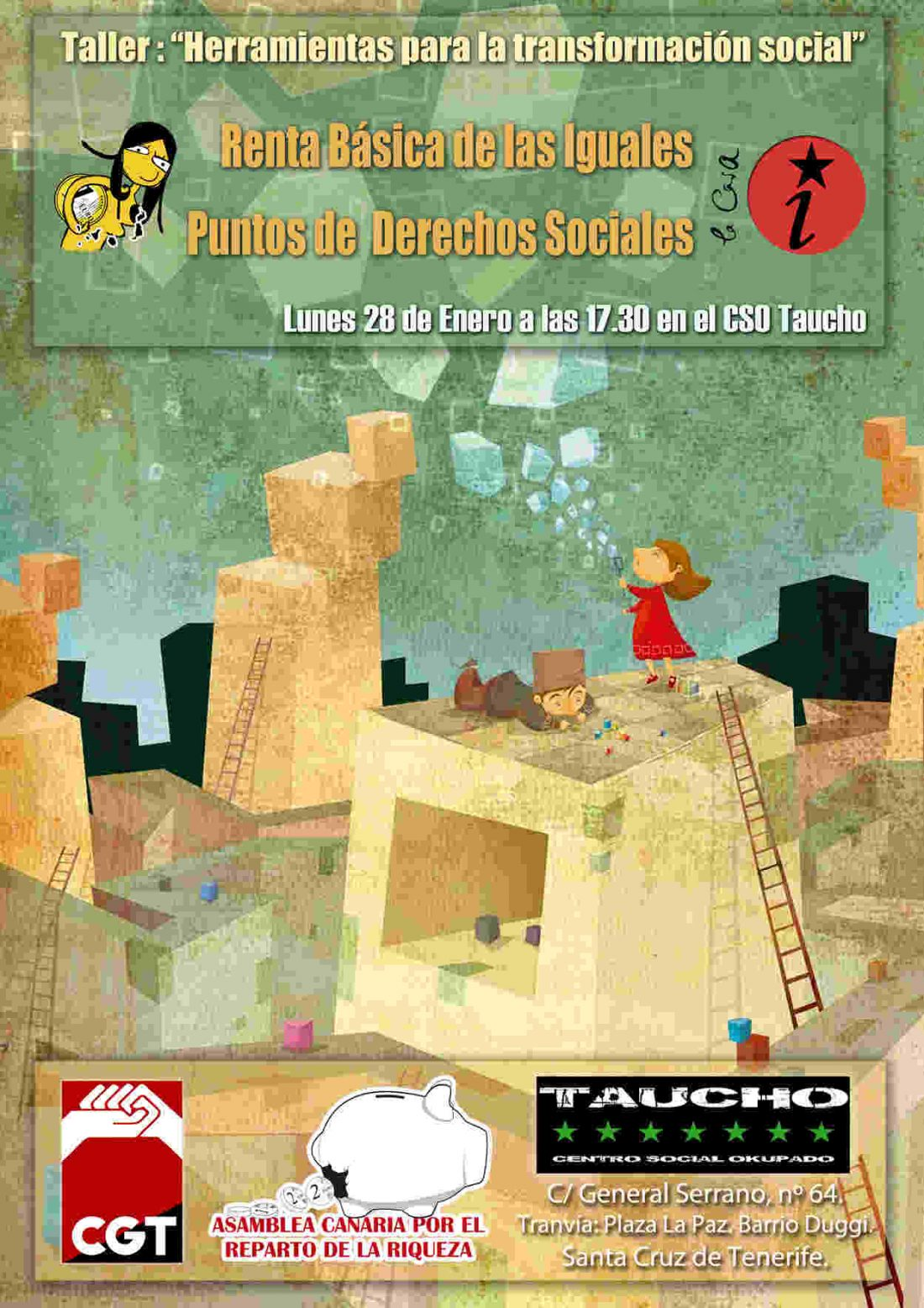 S/C de Tenerife. 28 de enero, Taller de Herramientas para la Transformación en CSO Taucho