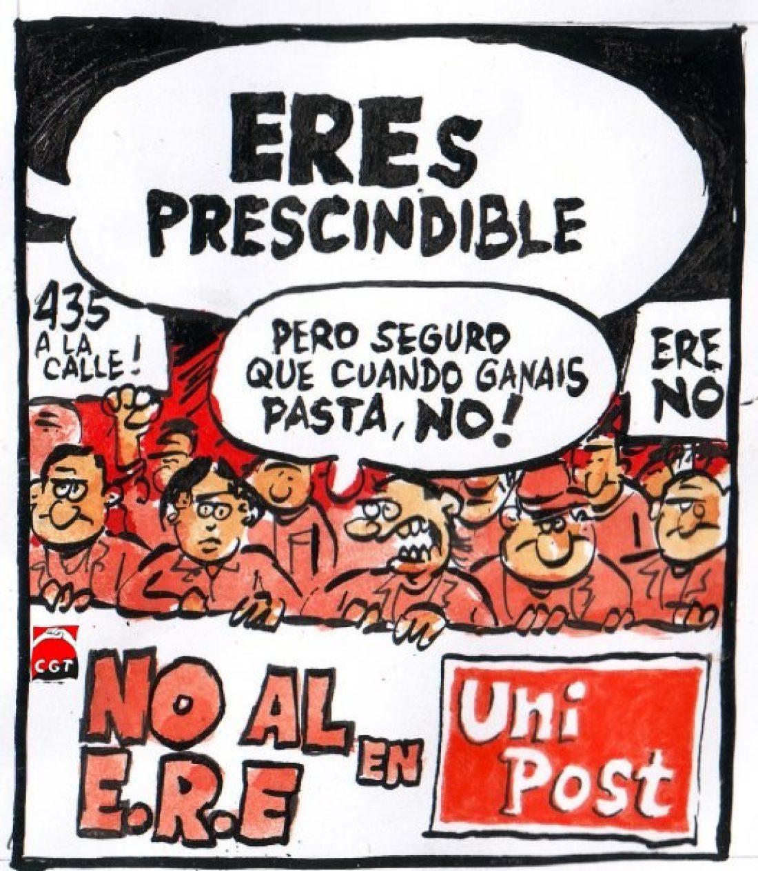 Manifestación de trabajadorxs de Unipost en Barcelona, sábado 2 de febrero a las 11.30horas (Pza. Universitat)