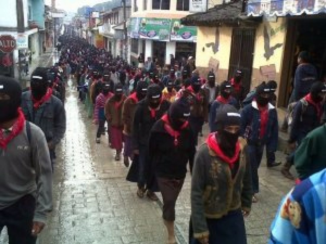 """CGT se une al grito """"Vivan los zapatistas"""""""