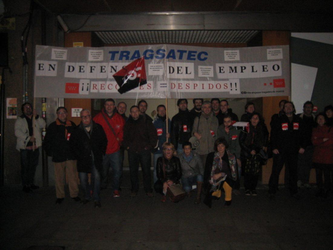 Crónica y fotos de la concentración contra los despidos en Tragsatec