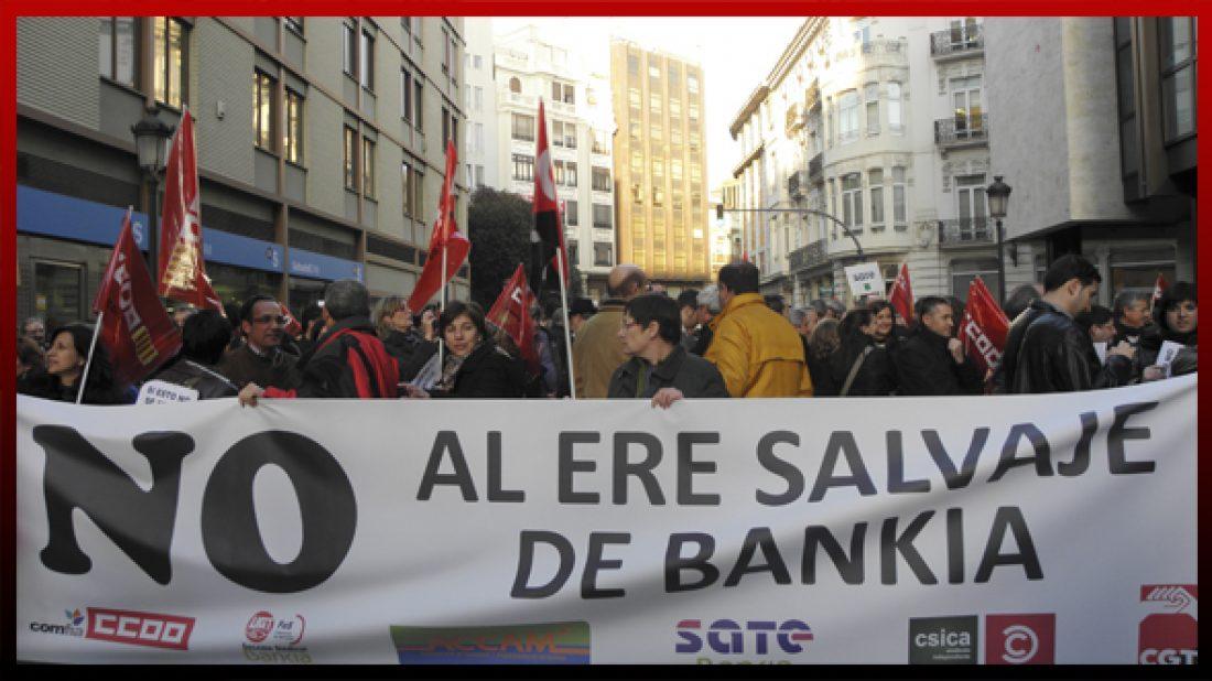 Convocatoria de movilizaciones contra el ERE salvaje de Bankia