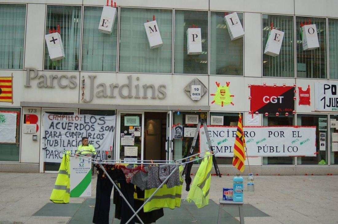 CGT convoca 25 días de paros durante el 2013 en Parcs i Jardins de Barcelona