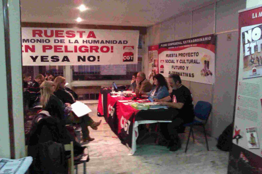 Celebrado en Zaragoza el Pleno Extraordinario de CGT con Ruesta como punto único.