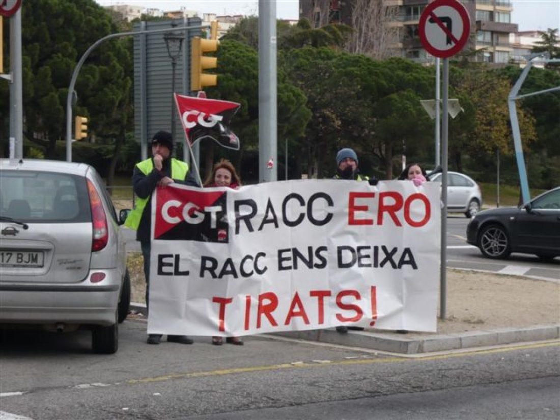 Barcelona. Éxito de la huelga en el RACC