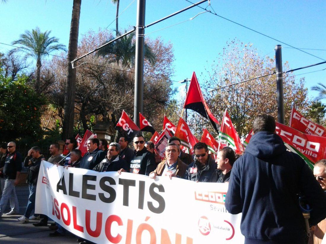 Sevilla. Convocada Huelga de 24h del 4 al 8 de febrero contra el ERE en ALESTIS AERÓPOLIS