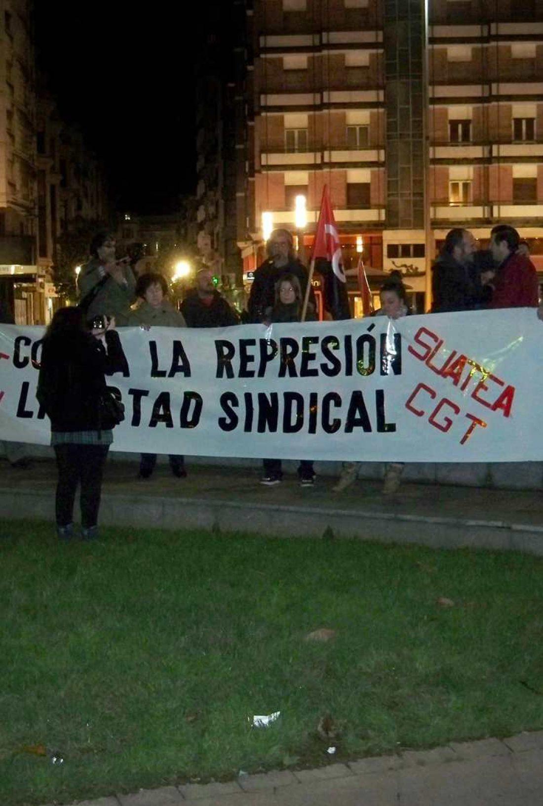 Manifestación en Gijón contra la represión sindical