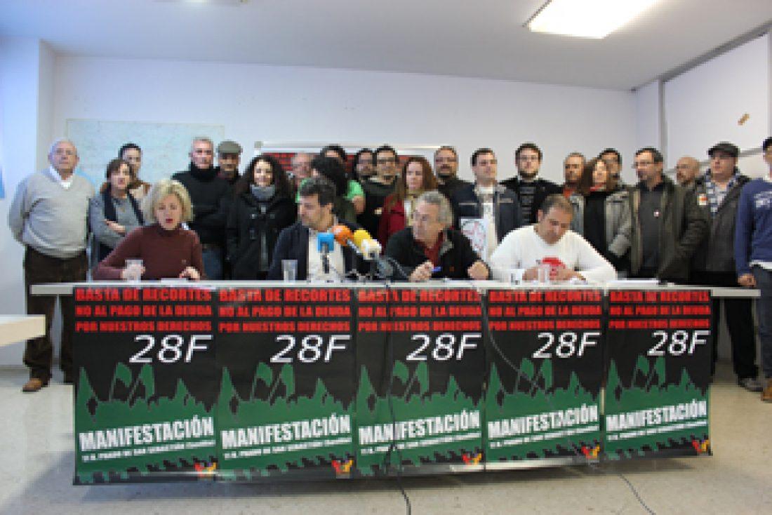 El Bloque Crítico convoca una manifestación para este jueves 28 de febrero, Día de Andalucía, contra «los recortes vengan de donde vengan»