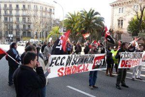 Barcelona. Concentración contra los despidos y la represión en FCC