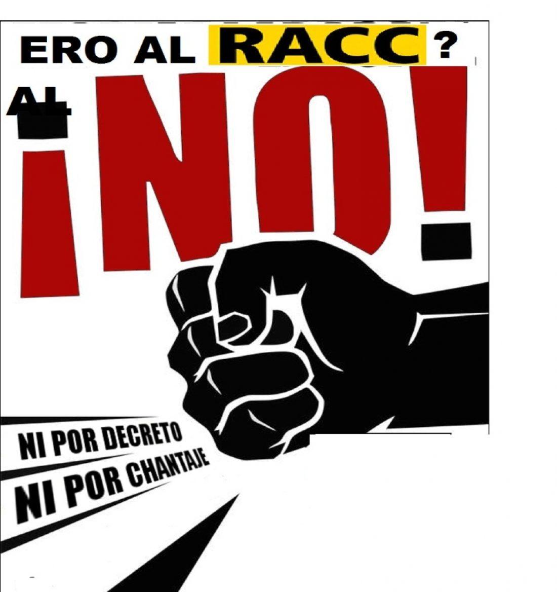 Barcelona. Huelga el lunes 11 de febrero en el RACC y concentraciones de 9 a 11 y de 17 a 19 h. en la sede del RACC en Diagonal 687