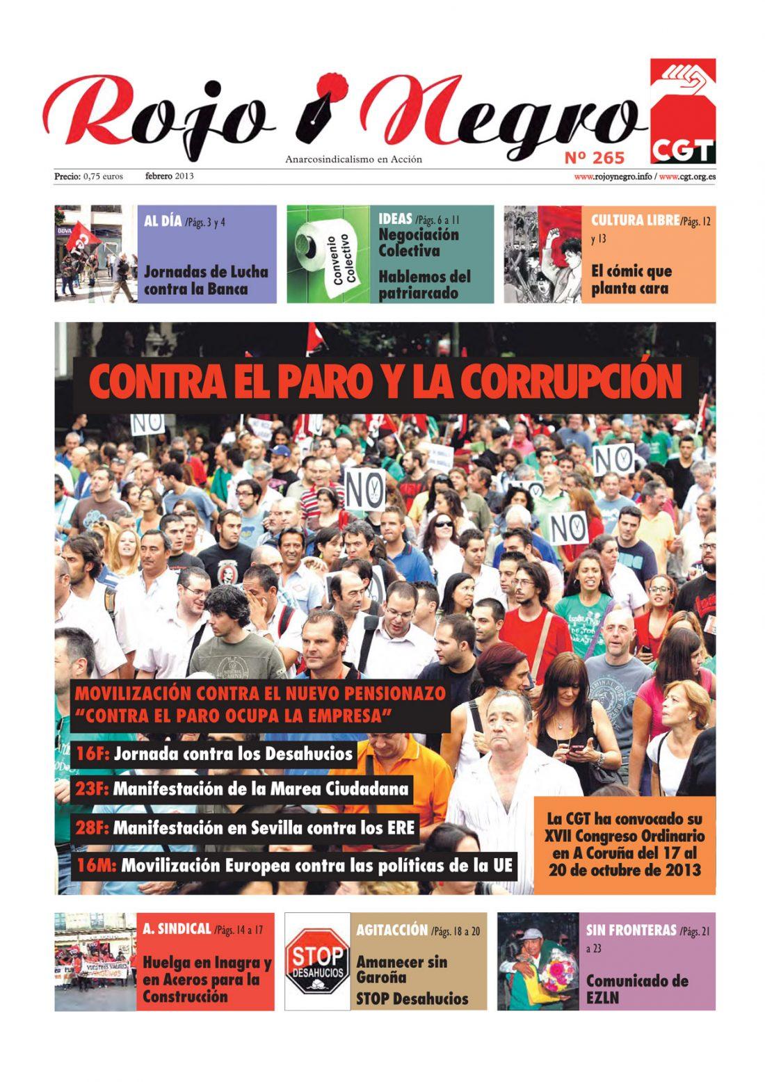 Rojo y Negro Nº 265 – febrero 2013