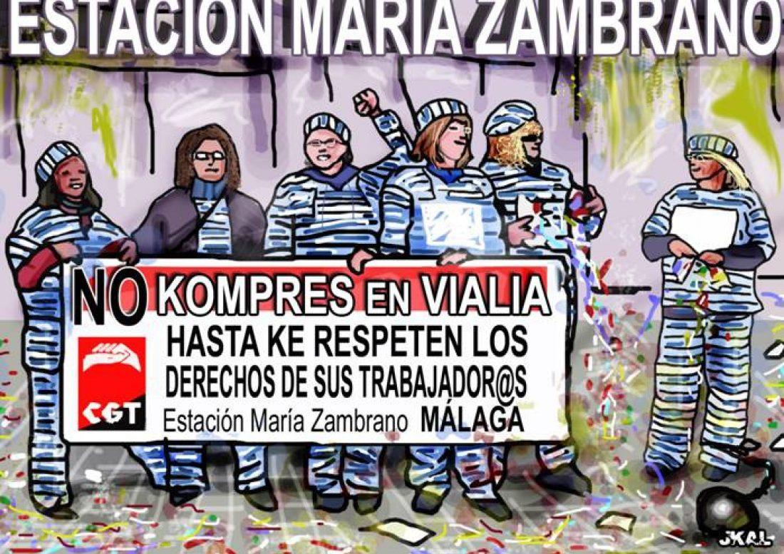 Málaga. EULEN provoca que vuelvan a sonar tambores de huelga en Vialia