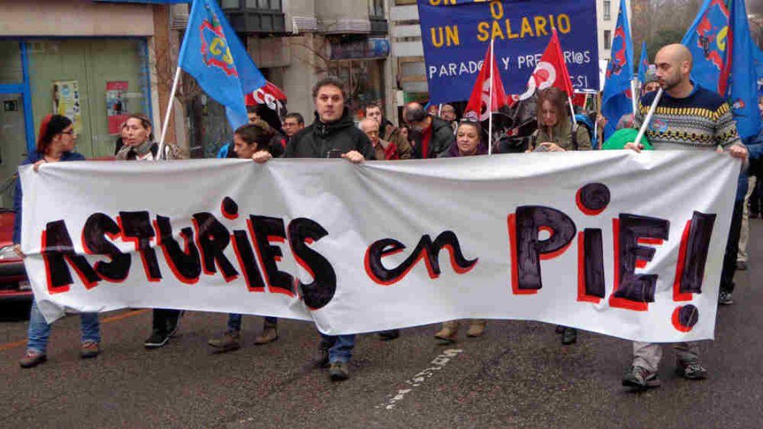 Marcha contra el paro, la corrupción, los recortes y la represión en Avilés