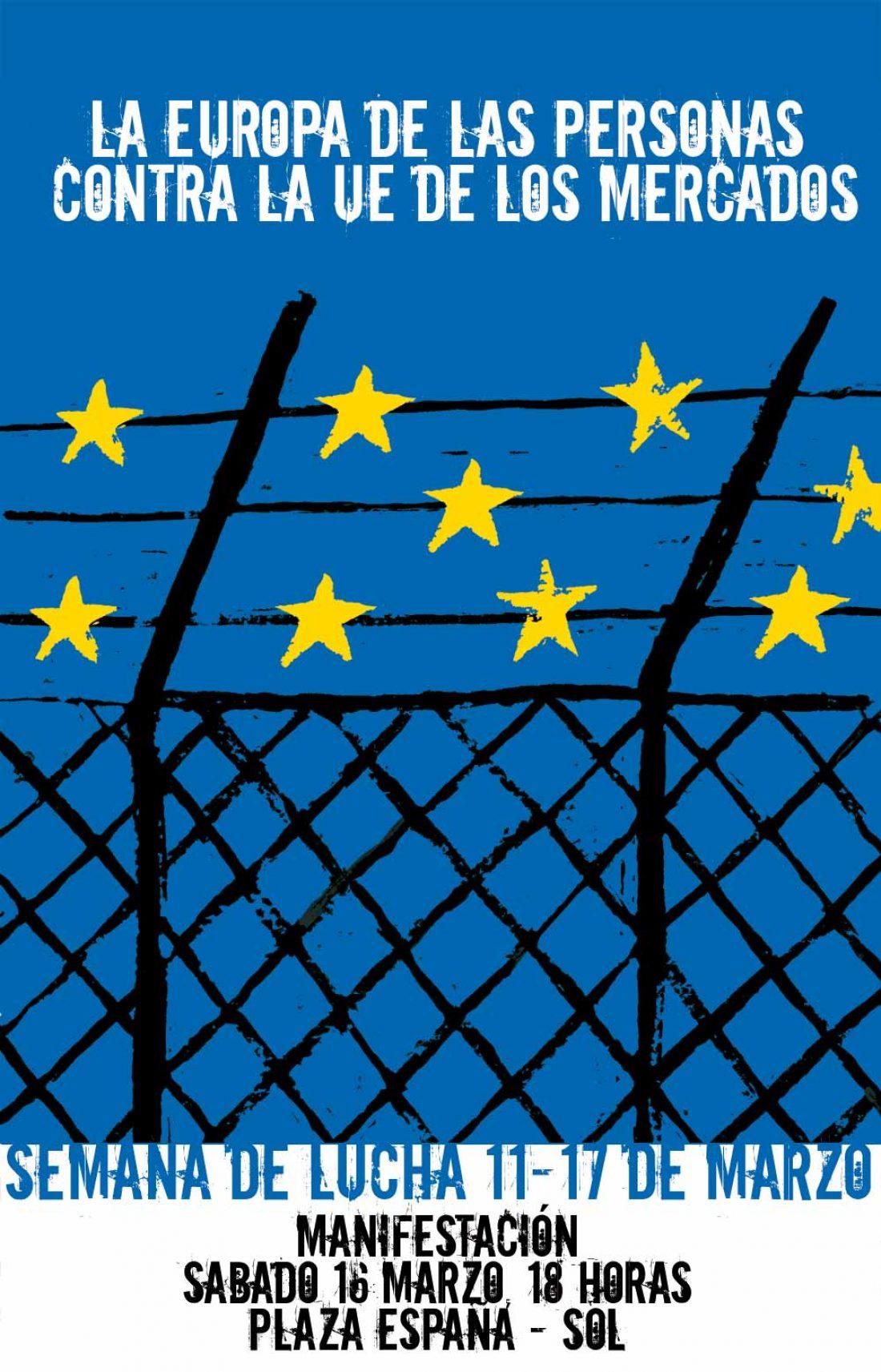 Movilizaciones contra la UE de los mercados – 16 marzo