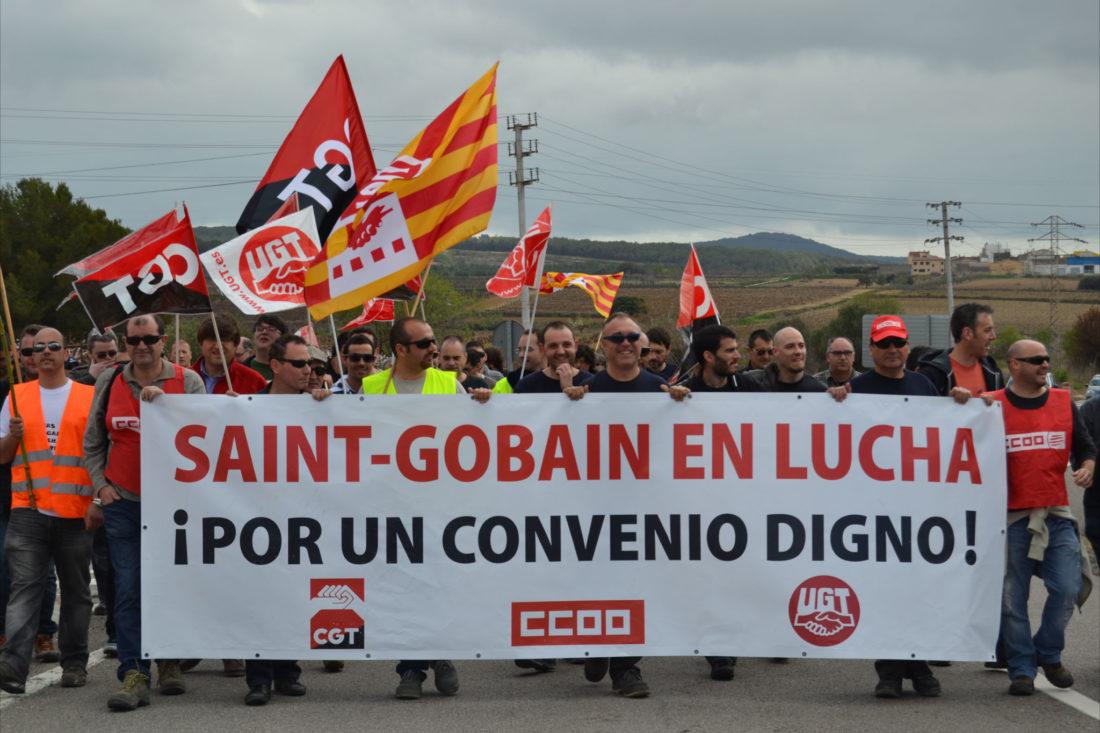 Siguen las huelgas en Saint-Gobain Cristalería S.L.