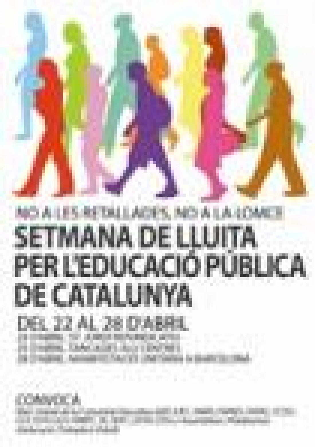 Semana de lucha por la Educación Pública de Catalunya del 22 al 28 de abril