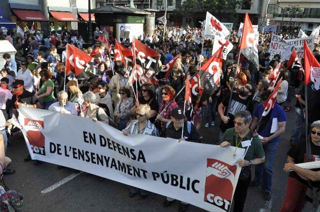 Valoración de CGT Enseñanza de la Huelga del 9 de mayo 2013